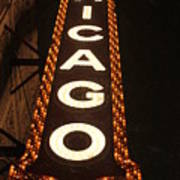 Looking Up Chicago Poster