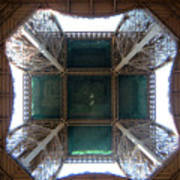 Looking Up Eiffel Tower Poster