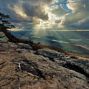 Lookout Mountain Sunset Poster