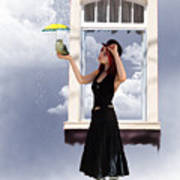 Looks Like Rain  Poster by Crispin  Delgado