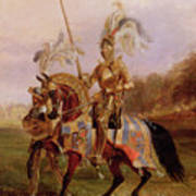 Lord Of The Tournament Poster by Edward Henry Corbould