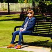 Lorna On A Bench Poster