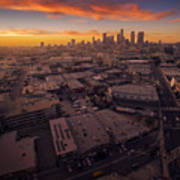Los Angeles At Sunset Poster