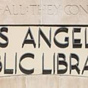 Los Angeles Public Library 0588 Poster