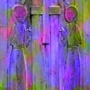 Los Santos Cuates - The Twin Saints Poster by Kurt Van Wagner
