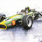 Lotus 49 Ford F1 Jim Clark Poster by Yuriy  Shevchuk