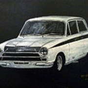 Lotus Cortina Poster