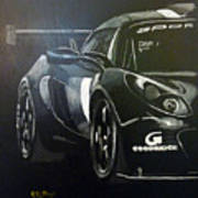 Lotus Exige Gt3 Side Poster