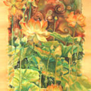 Lotus Field Poster