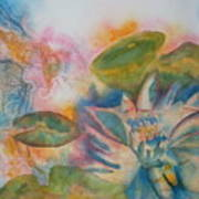 Lotus Flower Abstract Poster