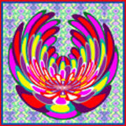 Lotus Flower Stunning Colors Abstract  Artistic Presentation By Navinjoshi Poster