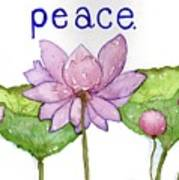 Lotus Of Peace Poster