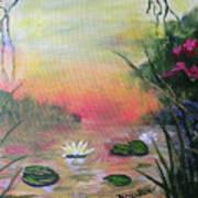 Lotus Pond Fantasy Poster