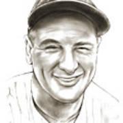 Lou Gehrig Poster