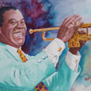 Louis Armstrong Poster by Charles Hetenyi