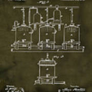 Louis Pasteur Brewing Beer And Ale Patent 1873  Grunge Poster