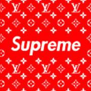 Louis Vuitton X Supreme Poster By Jae L