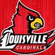 Louisville Cardinals Barn Door Poster