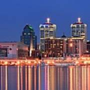 Louisville Panoramic At Blue Hour Poster