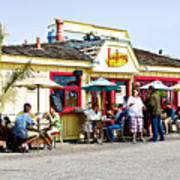 Loulou's On The Commercial Pier In Monterey-california Poster