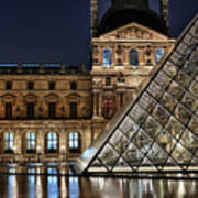 Louvre By Night II Poster
