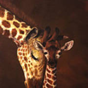 Love And Pride Giraffes Poster