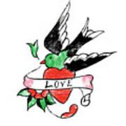 Love Bird Tattoo Poster