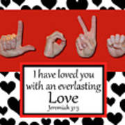 Love - Bw Graphic Poster