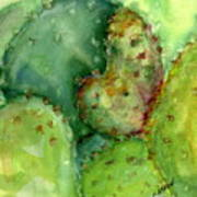 Love Cactus Poster