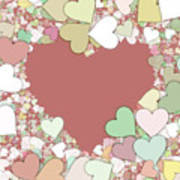 Love Heart Valentine Shape Poster