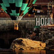 Love Hope And A Hot Air Balloon Poster