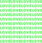 Love In Green Neon Poster
