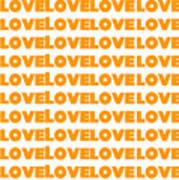 Love In Orange  Poster