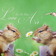 Love Is In The Air Poster by Lori Deiter