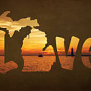 Love Lake Michigan Poster