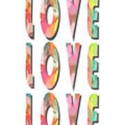 Love Love Love Phone Case Poster