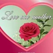 Love One Another Card Poster