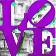 Love Philadelphia Purple Digital Art Poster