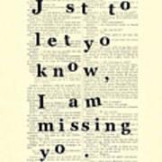 Love Poem, Valentine Gift  Poster