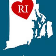 Love Rhode Island White Poster