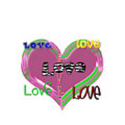 Love T-shirt Clothing Poster