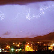 Loveland Colorado Front Range Foothills  Lightning Thunderstorm Poster
