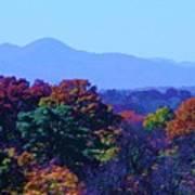Lovely Asheville Fall Mountains Poster