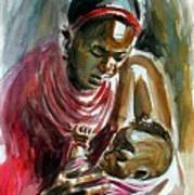 Lovely Masai Mother Poster