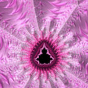 Lovely Pink Fractal Art Poster