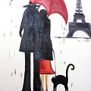 lovers in Paris Poster