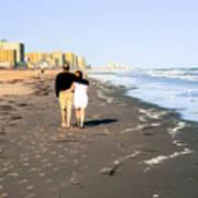 Lovers On The Beach Poster by Tom Zukauskas