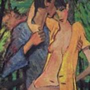 Lovers Poster by Otto Muller