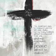 Loving Kindness Cross- Art By Linda Woods Poster