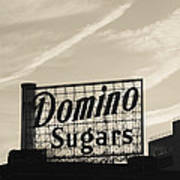 Low Angle View Of Domino Sugar Sign Poster